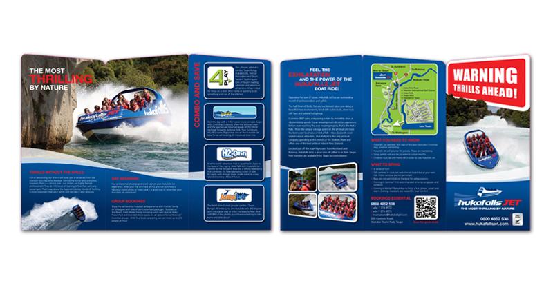 Redspot print design - Huka Falls Jet