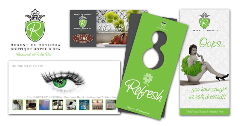 Redspot print design - Regent of Rotorua