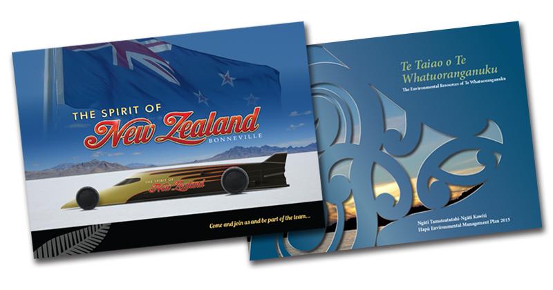 Redspot print design - The Spirit of New Zealand