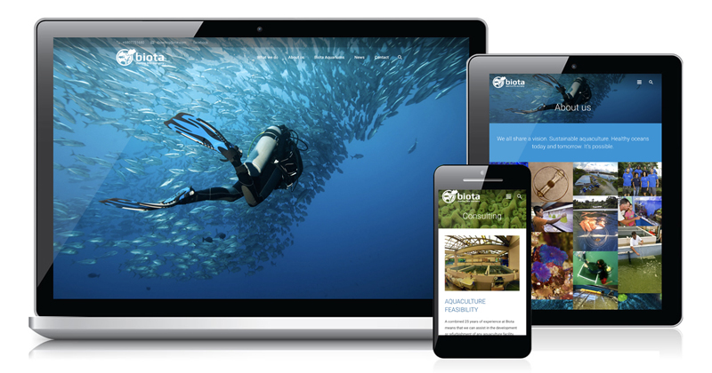 Redspot web design - Biota Palau