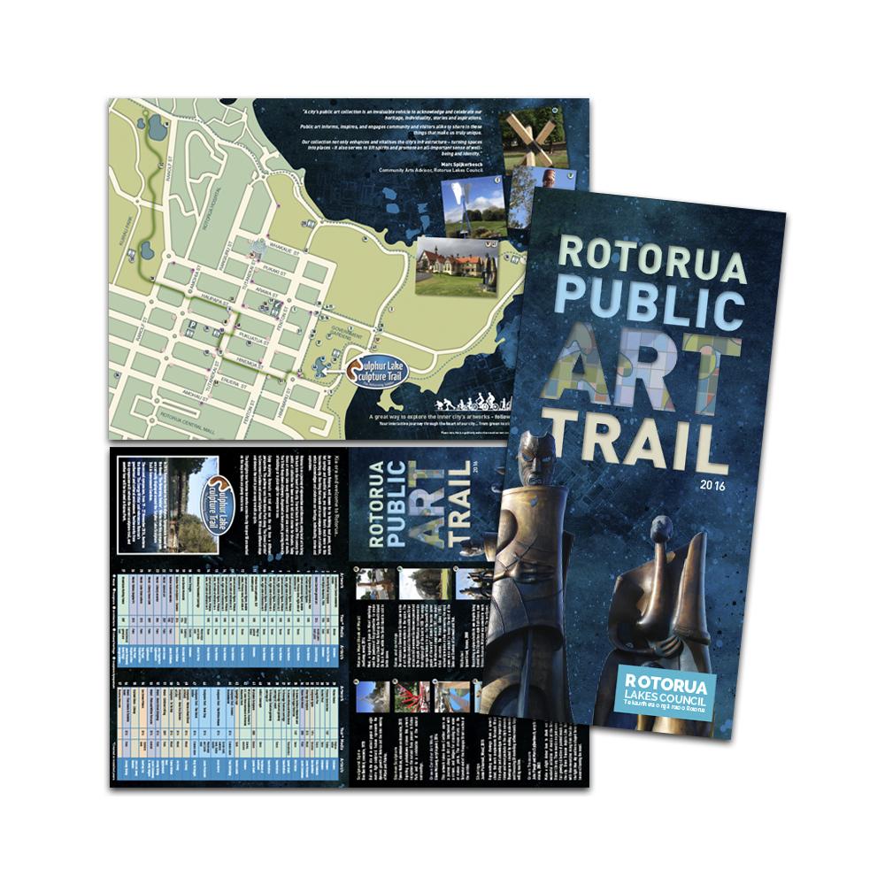 Redspot print design - Rotorua Public Art Trail