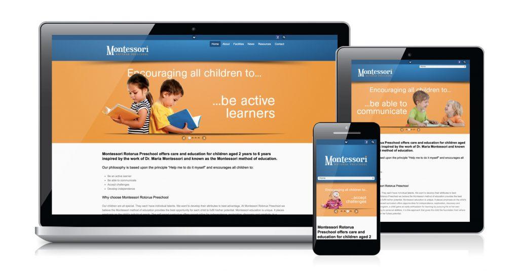 Redspot web design - Montesorri