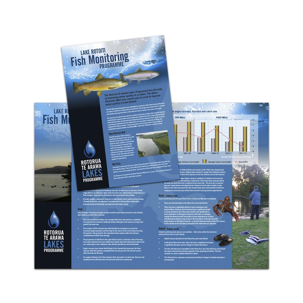 Redspot print design - Rotorua Te Arawa Lakes Programme