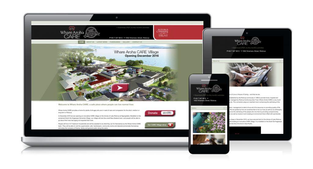 Redspot web design - Ware Aroha Care