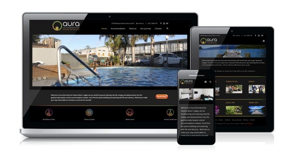 Redspot web design - Aura Accommodation
