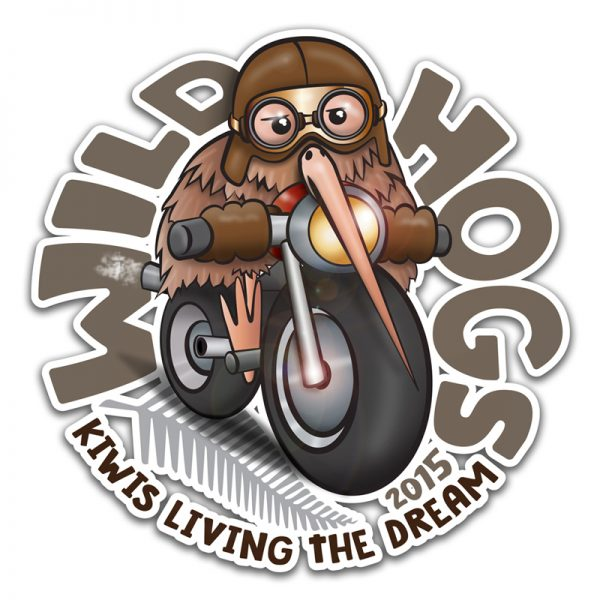 Redspot print design - Wild Hogs