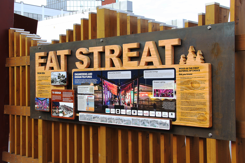 Redspot signage design - Eat Streat