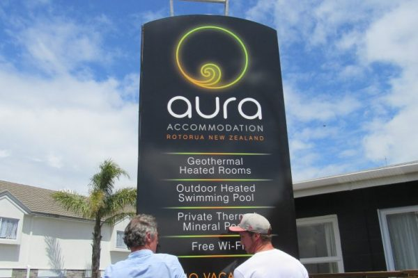 Redspot print design - Aura Accommodation