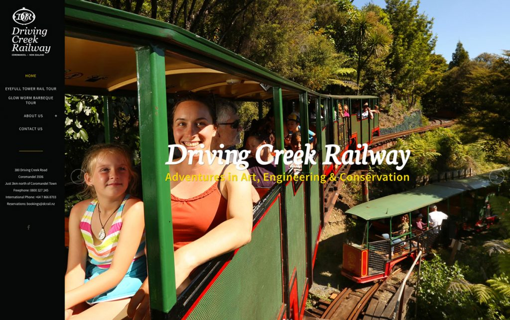 Redspot web design - Driving Creek Railway